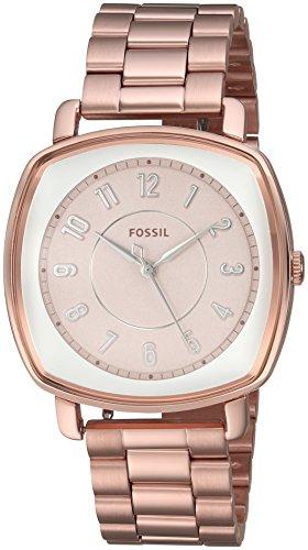 Fossil Women's ES4195 Idealist Three-Hand Rose Gold-Tone Stainless Steel (3 Steel Ladies Watch)