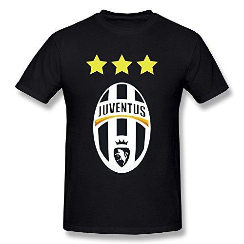 LIHOO UEFA 2015 Juventus Men's Tshirts Black Size L