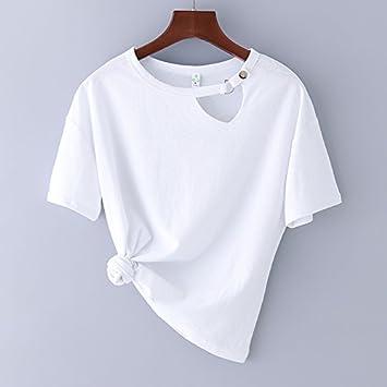 xing xiao Camisetas para Mujer Verano Nuevo Algodón De Manga Corta ...