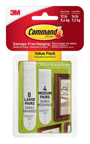 3M 17209ES Command Picture Hanging Strips (Pack of 8) by Generic