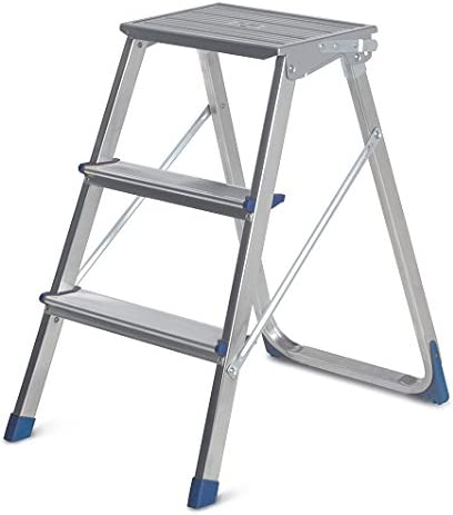 Escalera 3 Peldaños Piuma Aluminio: Amazon.es: Hogar