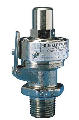 "Kunkle Pressure Relief Valve - 1/2"" 0002-C01-LC0050 Brass, 50 PSI Steam ASME Sec VIII by Kunkle Pressure Relief Valve"