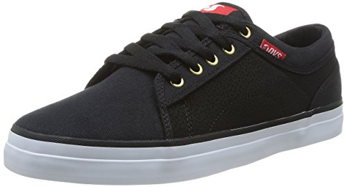 black Skateboard Scarpe Red Aversa Uomo da Canvas DVS Nero da t04qw77P