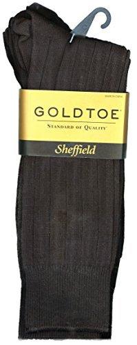 Gold Toe Mens 4-Pair Sheffield Premium Pima Cotton Trouser Socks (Black, Shoe Size 6 - 12.5 (1 PK - 4 Pair Total))