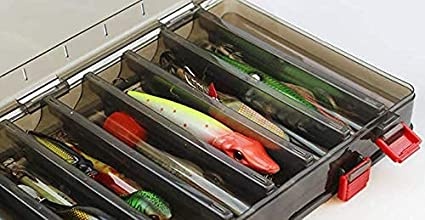 Double Sided Fishing Box Fishing Accessories Lures Hooks Storage Box B1P6