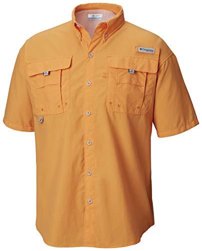 - Columbia Men's PFG Bahama II Short Sleeve Shirt, Koi, Small