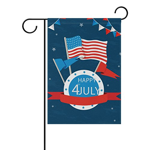 """LEISISI Happy 4Th Of July Garden flag 28""""X40"""" Two Sided Yard"""