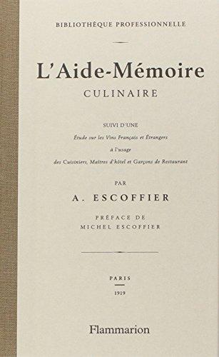 L'Aide-Memoire culinaire  [Auguste Escoffier] (Tapa Dura)