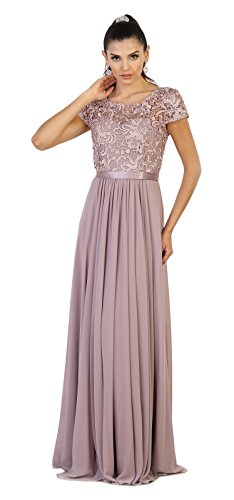 555f4811ceb May Queen MQ1486 Short Sleeve Mother of The Bride Evening Dress (5XL