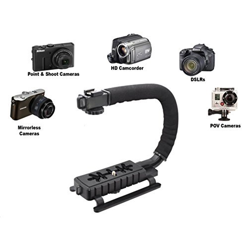 Pro Video Stabilizing Handle Grip for: Pentax Optio E30 Vertical Shoe Mount Stabilizer Handle