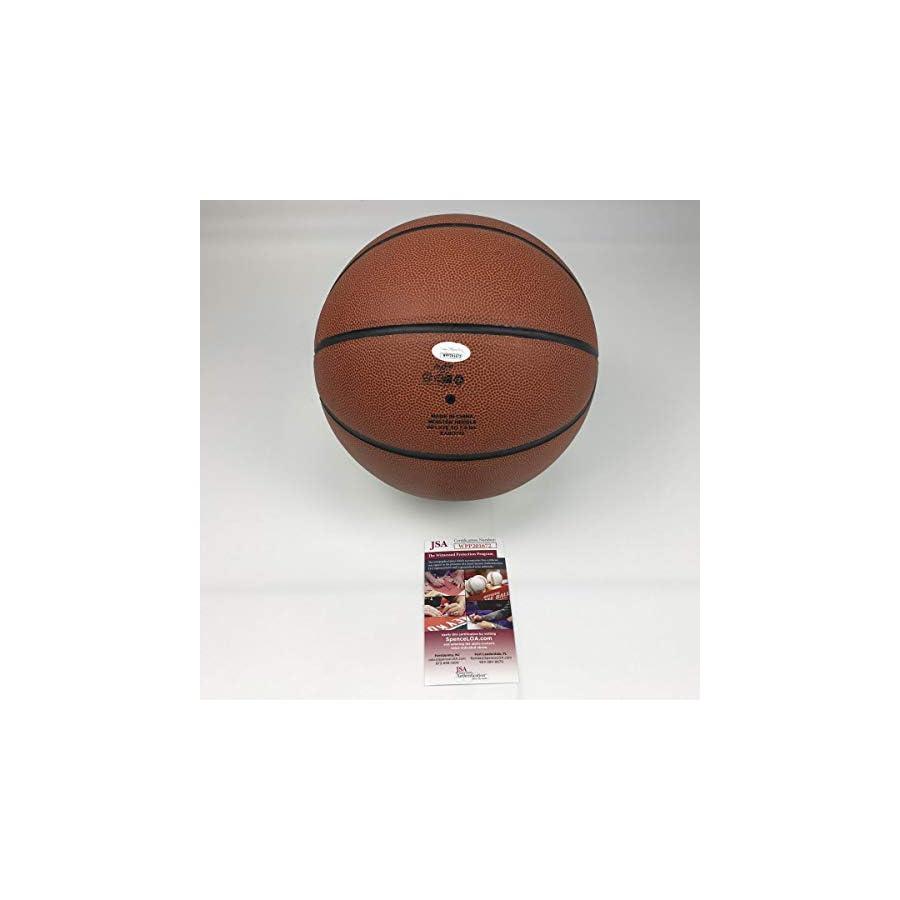 Autographed/Signed Christian Laettner Duke Blue Devils Full Size Logo Basketball JSA COA