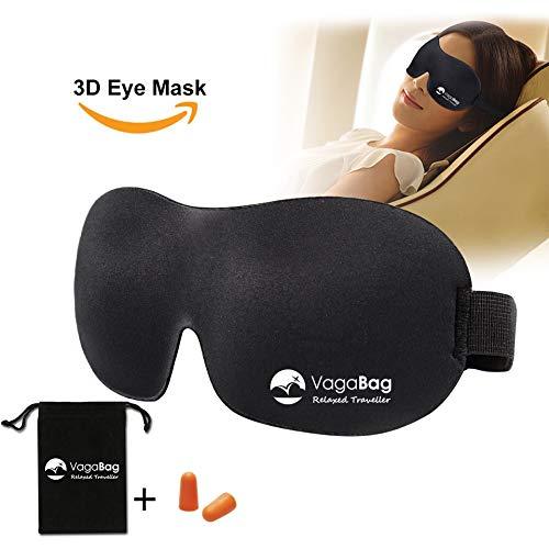 Masque de Sommeil 3D ultra doux Parfaitement occultant Qualit/é premium Ajustable Homme Femme