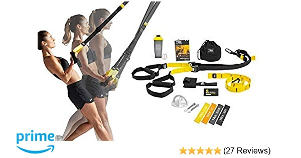 TRX All In One Home Gym Bundle: Includes All-In-One Suspension Trainer,  Indoor & Outdoor Anchors, TRX XMount Wall Anchor, 4 Exercise Bands & Shaker