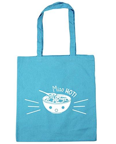HippoWarehouse Miso Hot. Bolsa de la compra bolsa de playa 42cm x38cm, 10litros azul (Surf Blue)