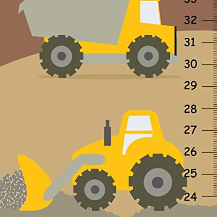 Amazon Personalized Growth Chart Construction Trucks For Boys