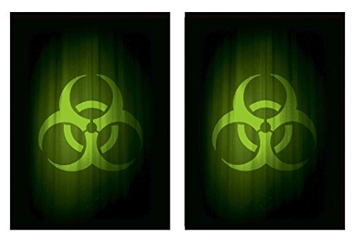 Legion SUPER Iconic BIOHAZARD 100 DOUBLE Matte Finish CONTAGION GREEN Sleeves (fits Magic / MTG, Pokemon Cards)