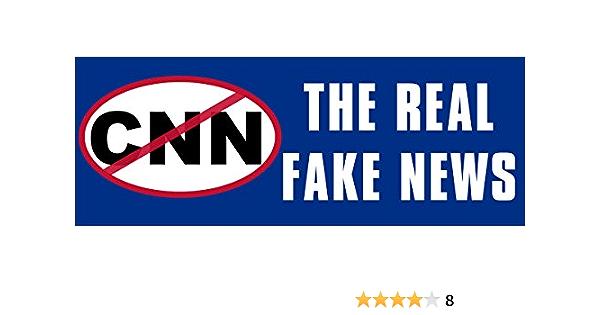 CNN Fake News Vinyl Decal Bumper Sticker Car Windows Funny Rude Humor