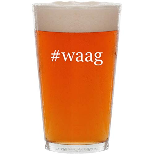 #waag - 16oz Hashtag Pint Beer Glass -