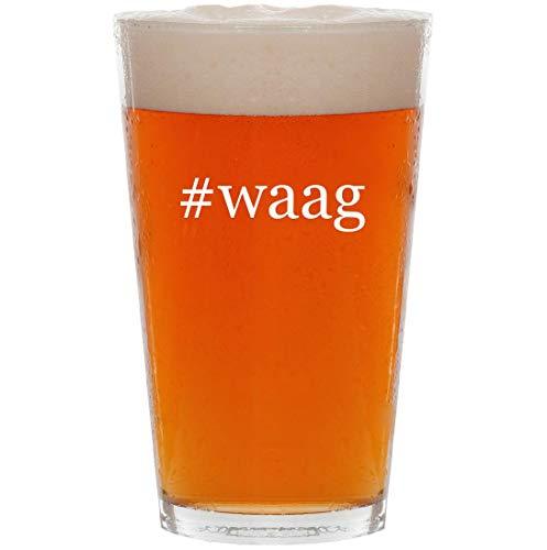 #waag - 16oz Hashtag Pint Beer Glass -
