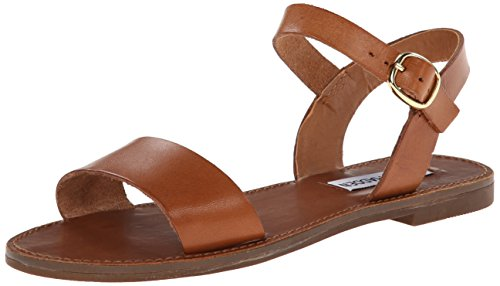 Steve Madden Women's Donddi Dress Sandal, Tan Leather, 7.5 M US - Leather Womens Sandals