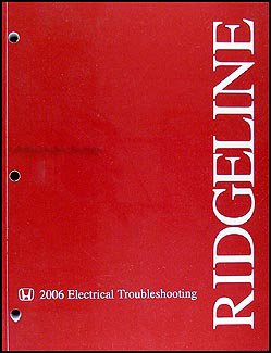 2006 Honda Ridgeline Electrical Troubleshooting Manual Original