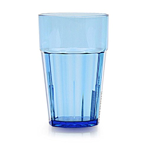 SET OF 12 CUPS 12 OZ DIAMOND TUMBLER POLYCARBONATE CUP BLUE UNBREAKABLE BAR BARWARE DRINKWARE GLASS GLASSWARE SAFE DURABLE RELIABLE RESTAURANT DINER BAR Review