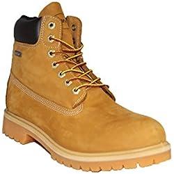"ZANCO MEN'S WATERPROOF 6"" CONSTRUCTION WORK BOOT WHEAT LEATHER NUBUCK # 1065 SIZE 11 US"