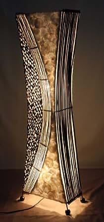 Lámpara de pie asiatica Borobudur M (LA12-100/100), Decoración luminosa de diseño Bali