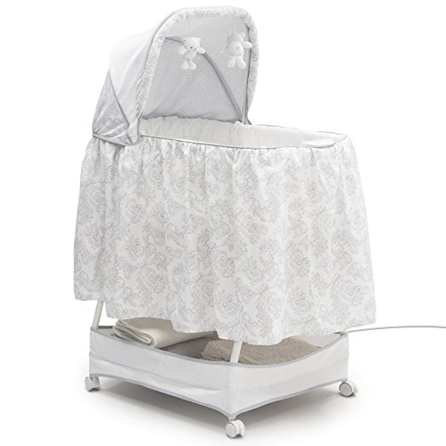 Simmons Kids Classic Silent Auto Gliding Bassinet, Emerson (Simmons Kid Bassinet)