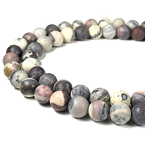 [ABCgems] Matte Mexican Porcelain Jasper 8mm Smooth Round Beads for Beading & Jewelry Making