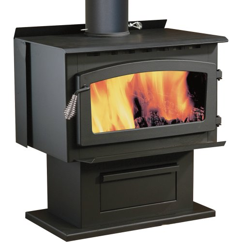 Are you looking for a wood stove that makes cleaning up a simple, easy  task? Would you love to have a stove with a large window to let you watch  the flames ... - Review: Century Heating Whistler Wood Stove - Finest Fires