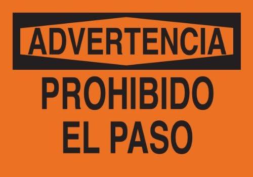 Brady 39567 Premium Fiberglass Spanish Sign, 14