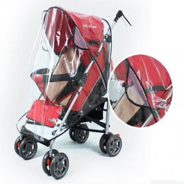 Souked Baby Rain Wind Snow Sleet Cover for Single Jogger Stroller by Souked