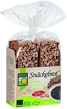 Bohlsener Mühle Snäckebrot Panes Crujientes con Chia y Semillas de Lino - 8 Paquetes de 200 gr - Total: 1600 gr: Amazon.es: Alimentación y bebidas