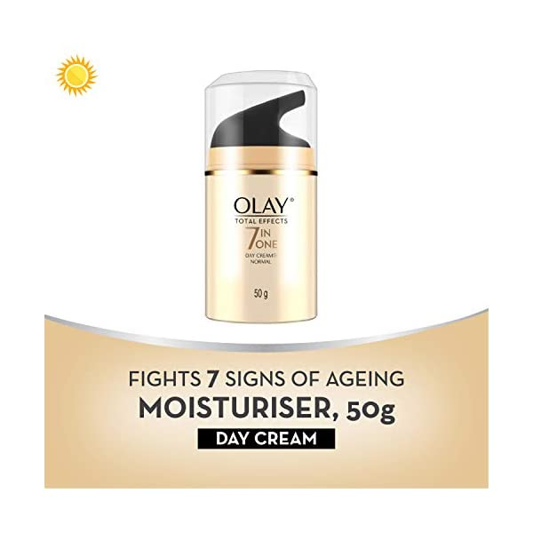 Olay Total Effects 7-in-1 Anti-Ageing Day Cream Normal, 50g 2021 August Visibly reduces dark spots Gives firm-looking skin Radiant, glowing skin