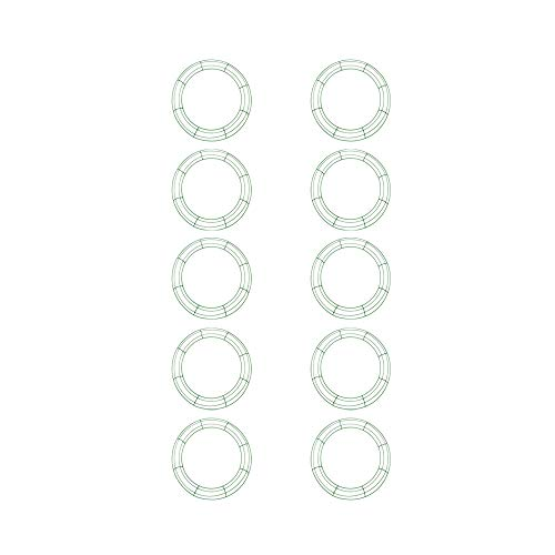 Green Wire Frame - Royalty Essentials 16 Inch Metal Wire Wreath Frame Form Hanger Green 16 Inch Pack of 10