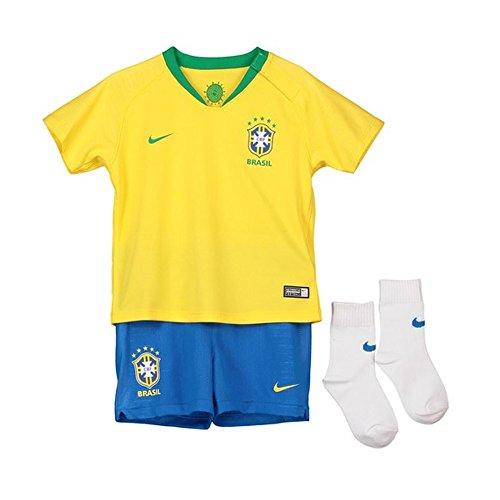 NIKE 2018-2019 Brazil Home Baby (Nike Youth Football Kits)