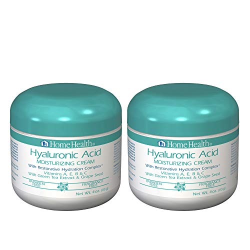 Home Health Hyaluronic Acid Moisturizing Cream with Restorative Hydration Complex (2 Pack) - 4 oz - Firming & Moisturizing, Reduces Appearance of Fine Lines - Paraben-Free, Fragrance-Free, Vegan