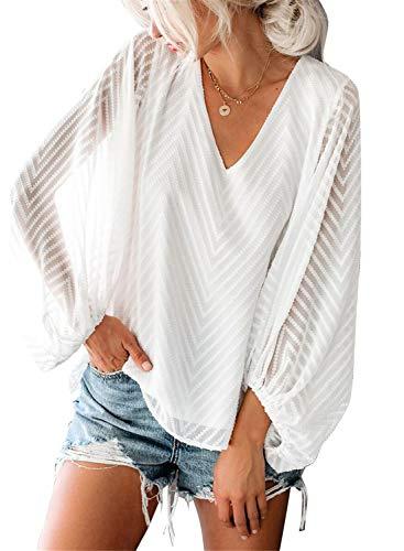 Women Casaul Balloon Sleeve Floral Print Shirts Tops
