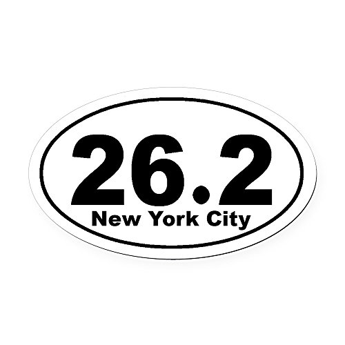 CafePress - 26.2 NYC Marathon - Oval Car Magnet, Euro Oval Magnetic Bumper ()
