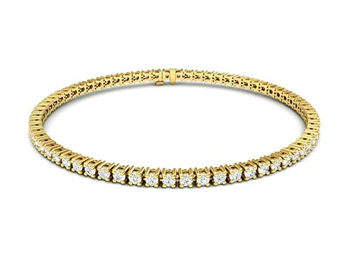 Tennis Bracelet 8.73 TCW Natural Diamonds,14K Yellow Gold
