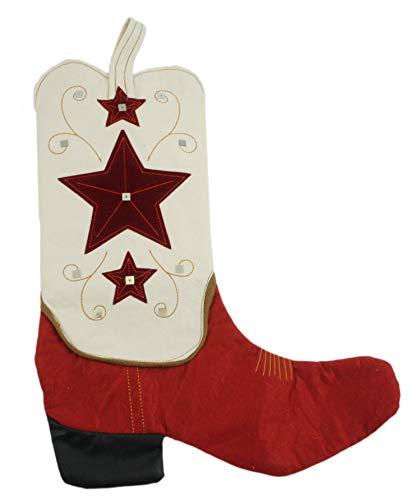 Tan Western Cowboy Boot Christmas Stocking