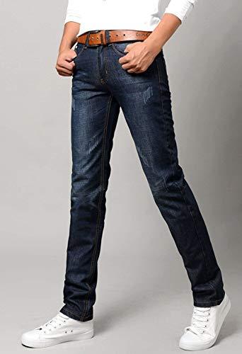 Gamba Regular Pantaloni Jeans Di Base Uomo Fit Taglio In Lunghi Dritto Slim Dritta Denim Dunkelblau Dritti Bermuda A qSvxp6wUS