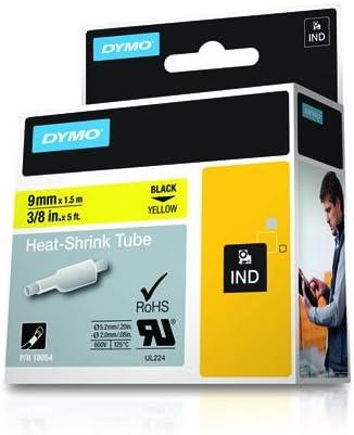 """US STOCK 3PK Heat Shrink Tube Label Tape Cassette 18054 For Dymo RHINOPRO 3//8/"""""""