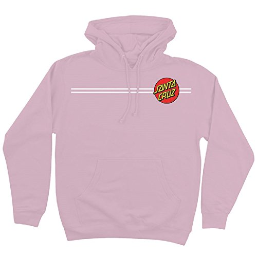 Santa Cruz Skateboards Classic Dot Hooded Pullover Sweatshirt (Light Pink, MD) ()