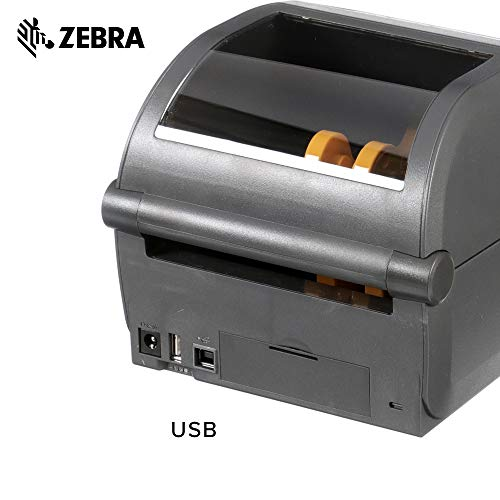 Zebra - ZD420d Direct Thermal Desktop Printer for Labels and Barcodes - Print Width 4 in - 203 dpi - Interface: USB - ZD42042-D01000EZ by Zebra Technologies (Image #4)
