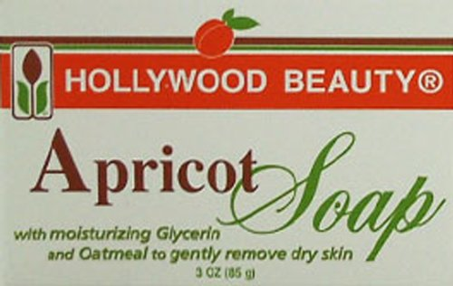 Hollywood Soap - Apricot 6-Count (Pack of 2) Hollywood Beauty