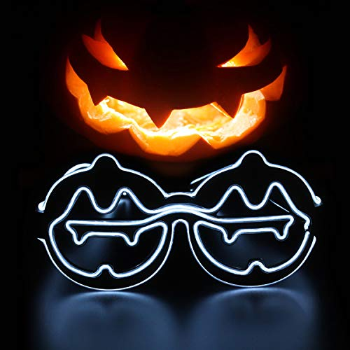 Yinstore Halloween Pumpkin Face Fashion Party Costume Novelty Glasses Halloween Masquerade Cosplay Makeup Party Halloween Children's Party Decoration (White)]()
