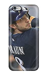 For Iphone 6 Plus Protector Case Braun Baseball Phone Cover(3D PC Soft Case)