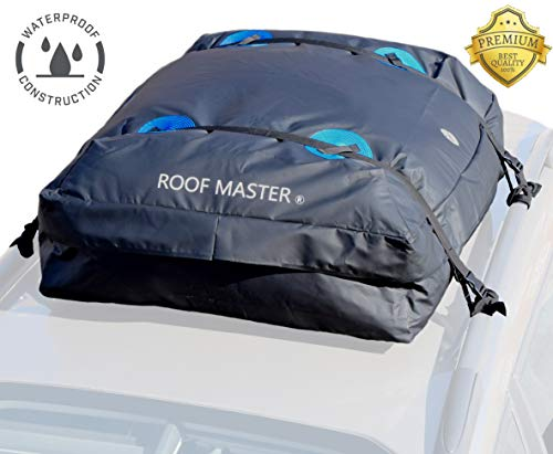 (P.I. AUTO STORE ROOFMASTER The Ultimate Car Rooftop Cargo Carrier for All Vehicle Roof Racks. Truck Cargo Bag. Unique Waterproof Design - Universal - 16 Cu ft)
